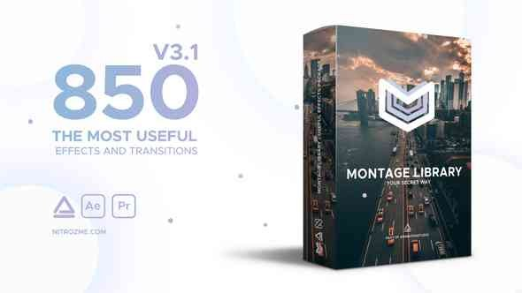 Videohive Montage Library - Most Useful Effects 21492033 with working panel file