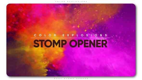 Videohive Color Explosions Stomp Opener 21842558