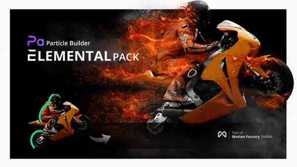 Videohive Particle Builder | Elemental Pack: Fire Sand Smoke Sparkle Particular Presets V2.16 14664200