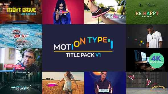 Videohive Motion Type - Titles Pack 20825273