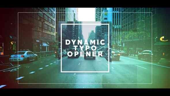 Videohive Dynamic Typo Opener 21698650