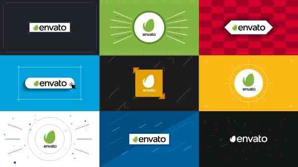 Videohive 9 Flat Logo Openers 13897762