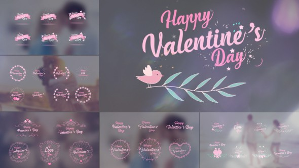 Videohive Valentine's Day Badge Pack 19334517