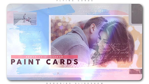Videohive Painted Cards of Memories Slideshow 21272842