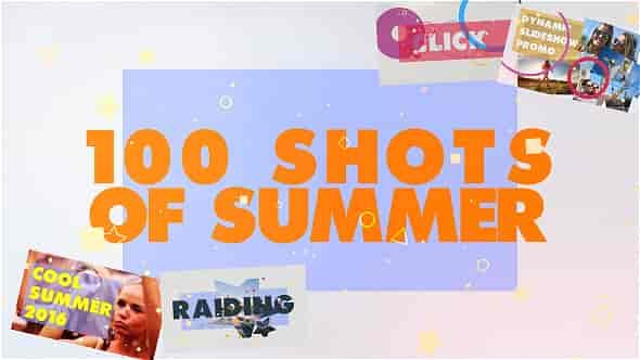 Videohive 100 Shots of Summer Slideshow 17831020