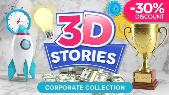 Videohive 3D STORIES | Icons Explainer Toolkit 21562016