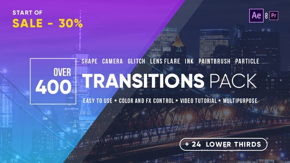 Videohive Transitions 21861548 FOR AE & Premiere Pro