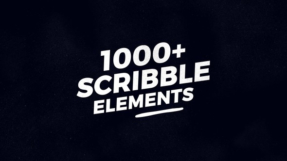 Videohive 1000 Scribble Elements 21777834
