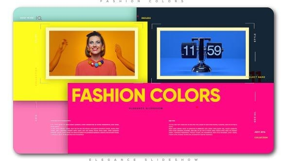 Videohive Fashion Colors Elegance Slideshow 21541572