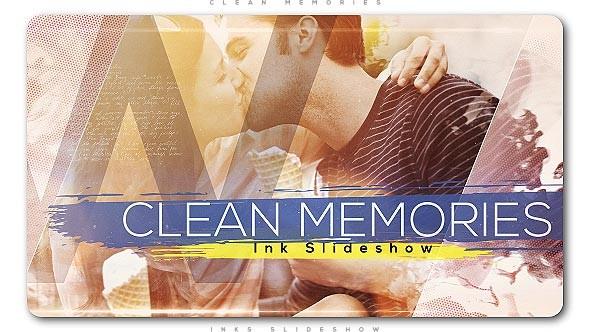 Videohive Clean Memories Inks Slideshow 20830706