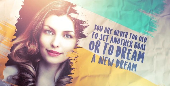 Videohive Brush Stroke slideshow Images and Quotes (2 Versions) 20851895