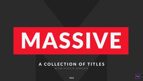 Videohive Massive | Titles Pack for After Effects 21880085