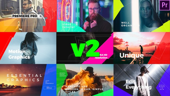 Videohive Simple Mogrt Graphics Titles 21846035