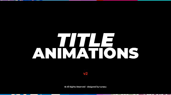 Videohive Title Animations V2 12794729