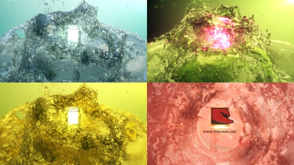 Videohive Surfacing Logo from Water 12252454