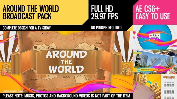Videohive Around The World (Broadcast Pack) 10295119