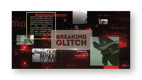 Videohive Breaking Glitch Presentation Slideshow 18125628