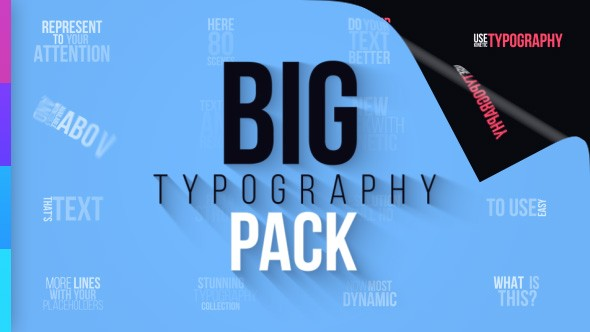 Videohive Big Typography Pack 21348986