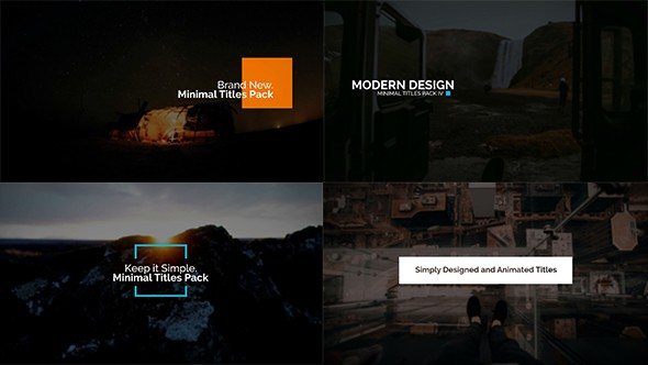 Videohive Minimal Intro Titles Pack lV 19383781