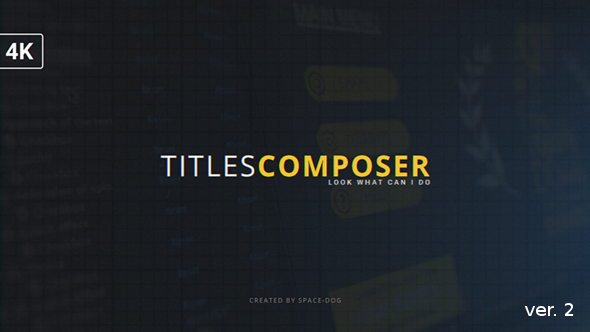 Videohive Titles Composer 15469143