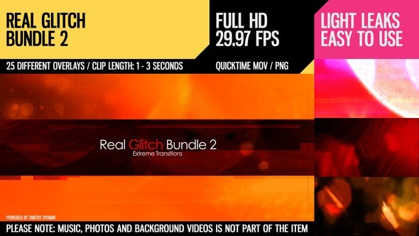Videohive Real Glitch Bundle 2 (Extreme Transitions) 4533686