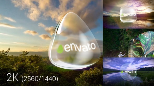 Videohive Glass Logo And Transitions 19566455