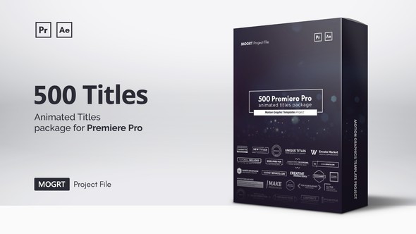 Videohive Mogrt Titles - 300 Animated Titles for Premiere Pro & After Effects 21688149