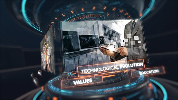 Videohive Digital Technology Intro 10637865