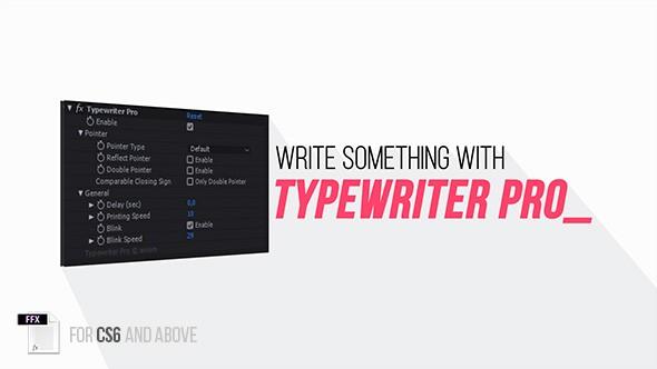 Videohive Typewriter Pro 22006421 - Add ons