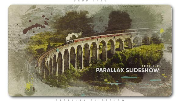 Videohive Drop Ink Parallax Slideshow 21461498