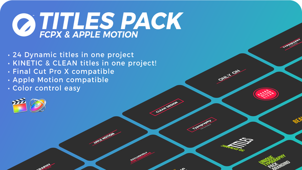 Videohive Titles Pack | FCPX & Apple Motion 21585978