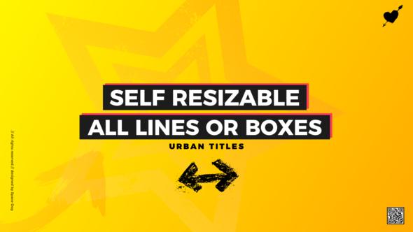 Videohive Box Titles - Self Resizing 21881214