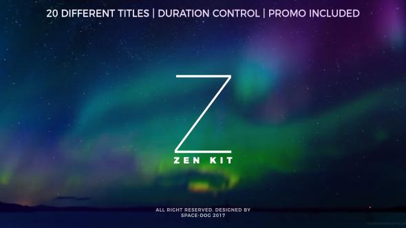 Videohive Zen Kit (Titles Pack) 20255138