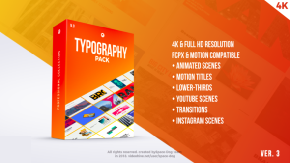 Videohive Typography Pack PRO | FCPX and Apple Motion 21729093