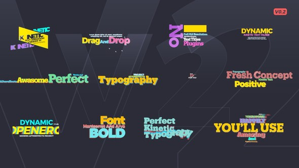 Videohive Kinetic Text V2 22015307