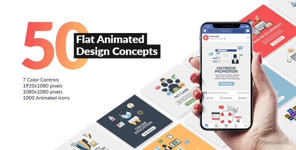 Videohive Flat Animated Design Concepts 21491354
