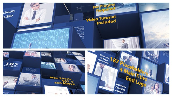 Videohive 3d Mosaic Corporate Intro 21246249