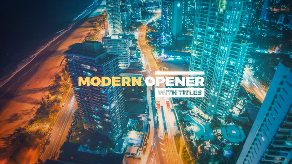 Videohive Modern Opener With Titles 20501638