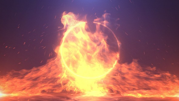 Videohive Epic Fire Logo Reveal 22117979