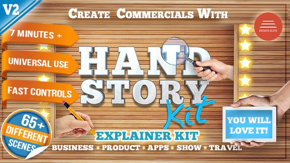 Videohive Hand Explainer Product Commercial Kit V2 15678999