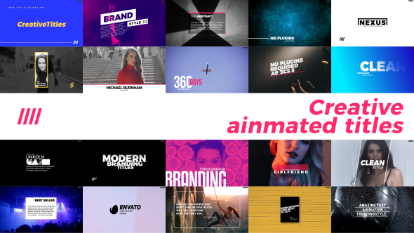 Videohive Creative Animated Titles 21373674