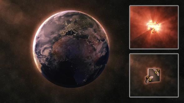 Videohive Shockwave Planet Destruction - Logo Reveal 7911141