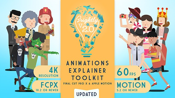 Videohive Brightly | Animations Explainer Toolkit - Final Cut Pro X & Apple Motion 20324287 - Last Update 1 February 18