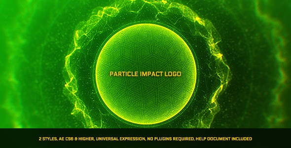 Videohive Particle Impact Logo 21495701