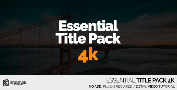 Videohive Essential Title Pack 4K 20549269