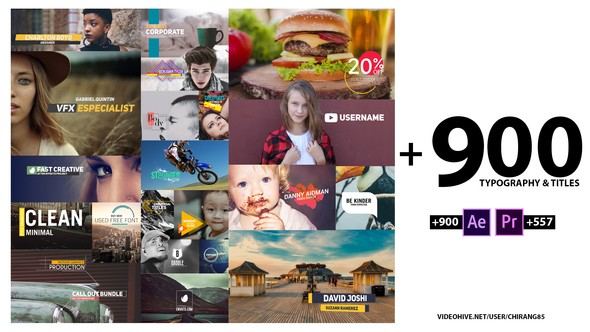 Videohive 900 Typography & Titles 22373301