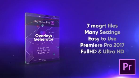 Videohive Overlays Generator 22398338 - Premiere Pro