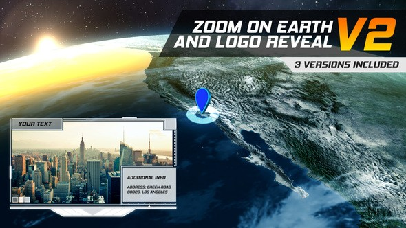 Videohive Zoom On Earth And Logo Reveal V2 22001651
