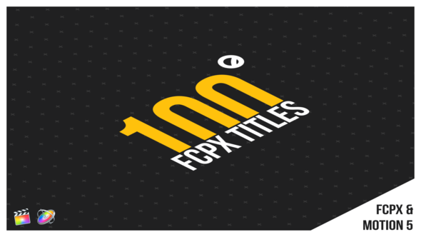 Videohive 100 FCPX Titles 22400035