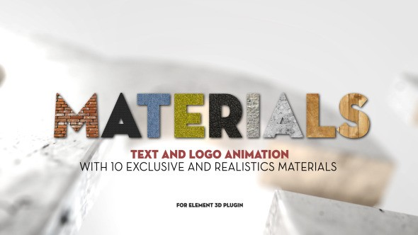 Videohive Materials 5434655